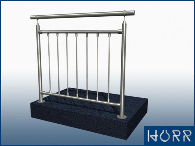 gel nder boden 2 pfosten edelstahl handlauf 2m gerade. Black Bedroom Furniture Sets. Home Design Ideas