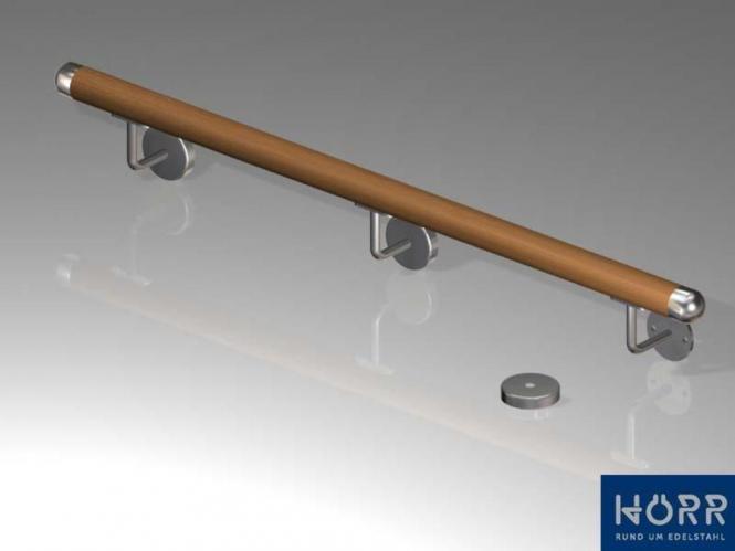 Mahagoni Gel/änder Handlauf Treppe Holz Griff gewinkelte Edelstahlhalter L/änge 30-500 cm aus einem St/ück//zum Beispiel L/änge 240 cm mit 4 gewinkelte Halter Enden =Radius gefr/äst