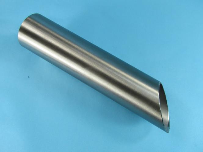 Edelstahlrohr 40x1,5 1,4301 K400 Länge 180mm / 1 x 45°
