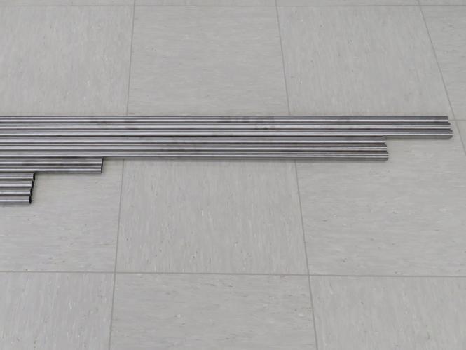 Rohr Set 25 mm für Mostly Printed CNC MPCNC Arbeitsbereich 80x80 cm 800 x 800 x 150 mm