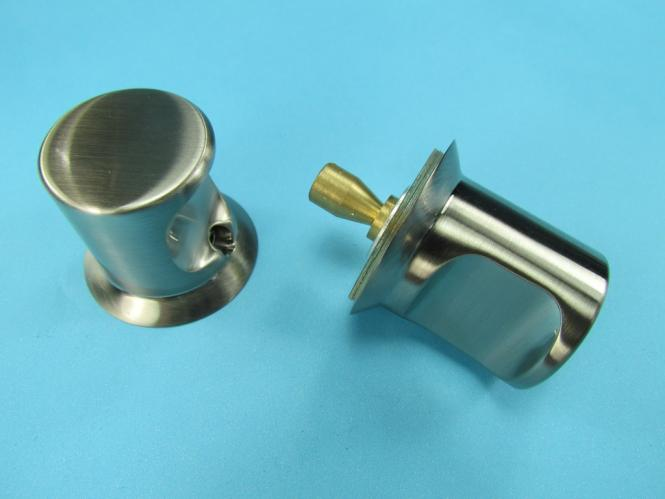 Bad Glastür Knopf Griff 3 Mulde Duschtürknopf Edelstahl Optik