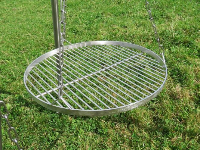 grillrost edelstahl rund 50 60 70 cm f r schwenkgrill dreibein grill v2a. Black Bedroom Furniture Sets. Home Design Ideas