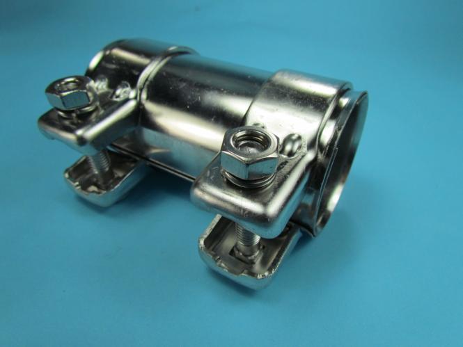 125 mm Auspuff Rohrverbinder Doppelschelle  Ø:80,5mm auf 76 mm  Länge