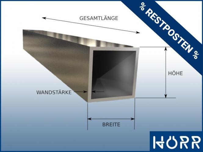 1,2 m Vierkant Rohr 60x60 RESTPOSTEN geschliffen Quadratrohr V2A EDELSTAHL