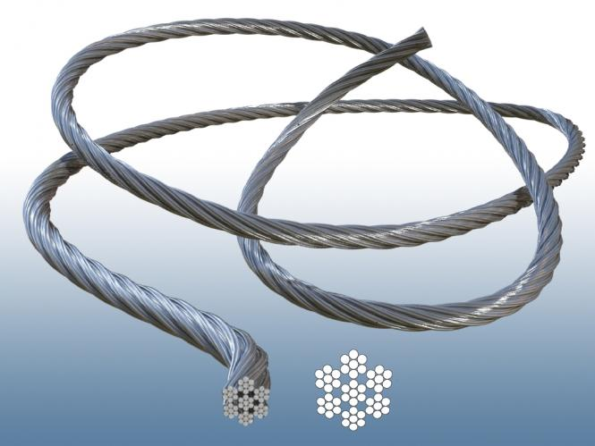 Drahtseil 7x7 V4A Edelstahl Seil - Durchmesser 2, 3, 4, 5, 6, 8 mm ...