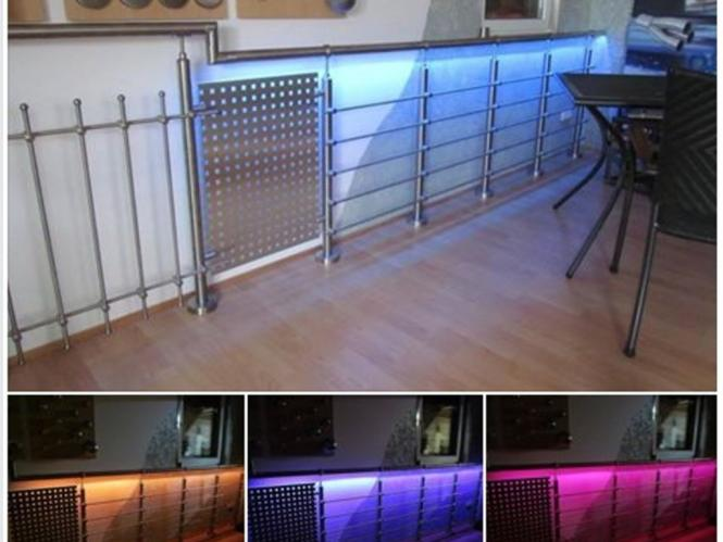 glasleisten led streifen set glasleistenrohr edelstahl handlauf beleuchtet. Black Bedroom Furniture Sets. Home Design Ideas