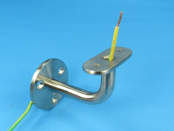 handlauftr ger wand gerade platte mit bohrung led kabeldurchf hrung kabel loch. Black Bedroom Furniture Sets. Home Design Ideas