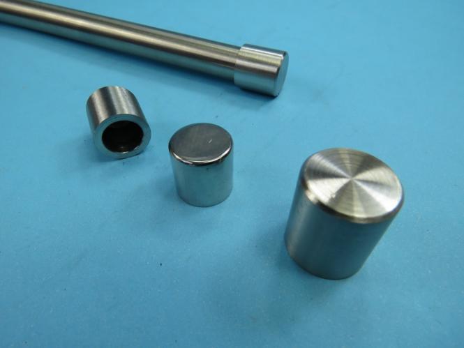 Rundstab Endkappe Zierteil Typ Zylinder für Rundstahl Rohr Edelstahl Abschluß