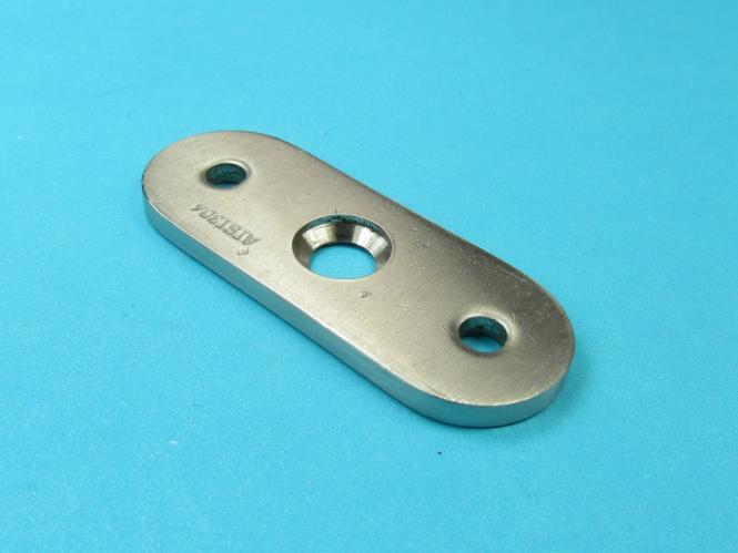 Trägerplatte Anschlussplatte Halteplatte Adapter Edelstahl gerade Flach für gerade
