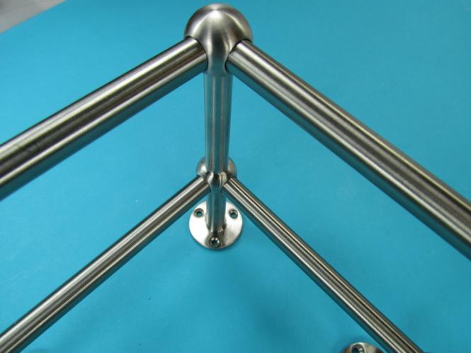 Relinghalter Stabhalter LANG 90° Eckstück 10mm Edelstahl Reling Halter