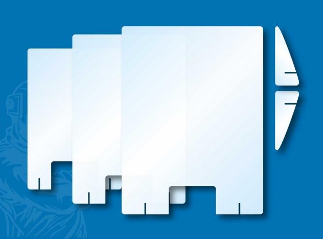 Hygiene Schutzwand Hustenschutz Schutz gegen Spucke Speichel Tröpfchen Individuell | OHNE Ausgabe