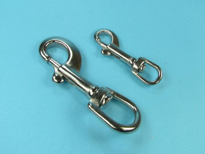 Schlüsselänhänger Edelstahl V4A Schlüssel Haken in auswählbaren Größen