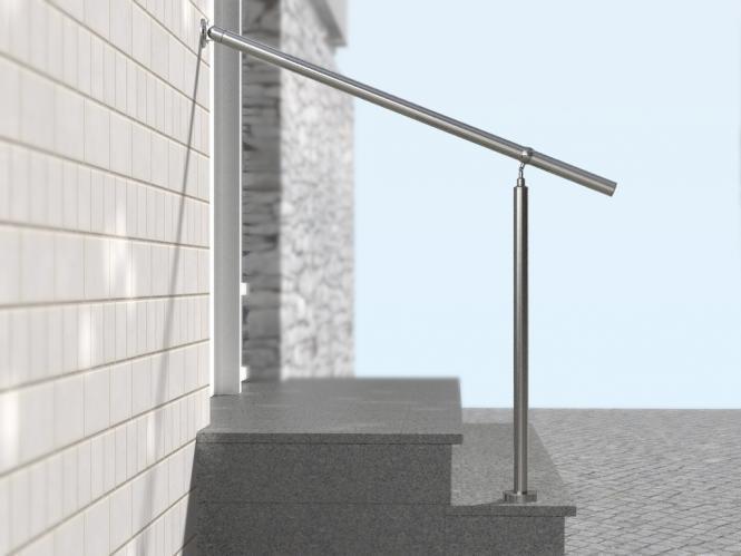 Geländer Boden Treppe Edelstahl Handlauf Bausatz Hauseingang Halterung