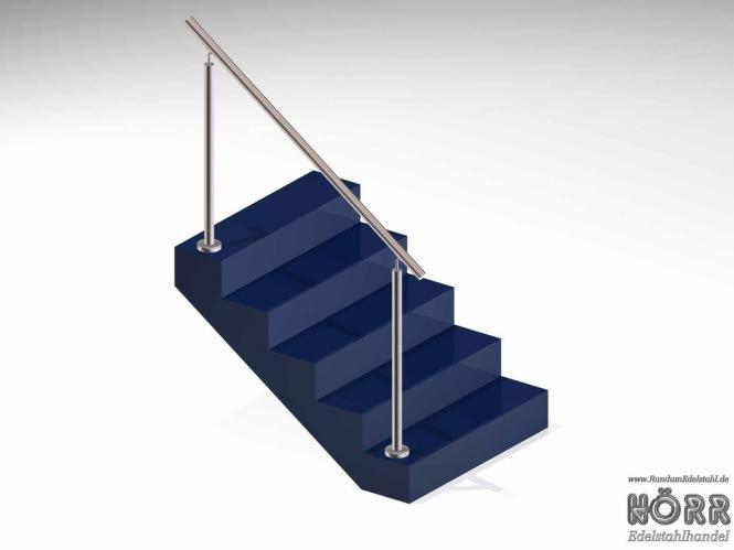 Geländer Boden Treppe Edelstahl Handlauf