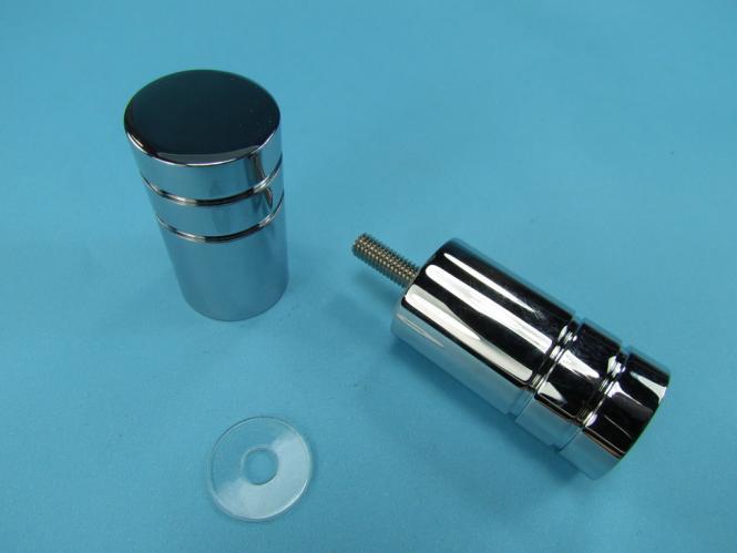Bad Glastür Knopf Griff 1 RILLE Duschtürknopf Shower Doorknob