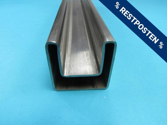 RESTPOSTEN Vierkant Rohr 40x40 mm Edelstahl 25 cm für Glas etc Einfass Profil