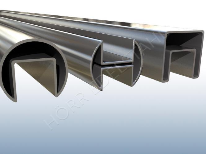 GLASLEISTENROHR / GLAS EINFAß PROFIL /  Länge wählbar bis 600 cm