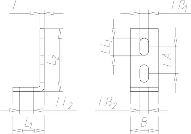 anschlusswinkel edelstahl f r c schiene 90 abgewinkelt. Black Bedroom Furniture Sets. Home Design Ideas