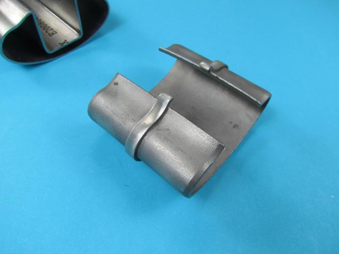 glasleistenrohr verbinder f r oval nut rohr 80x40 edelstahl. Black Bedroom Furniture Sets. Home Design Ideas