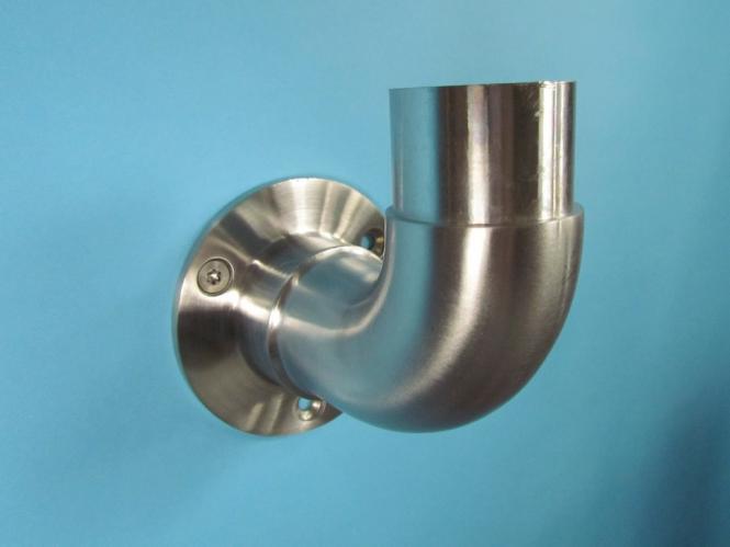 Beispiel:L/änge 70 cm mit 2 Halter 6m aus einem St/ück /& unterschiedlichen Endst/ücken zum Ausw/ählen /Ø 42,4 mm mit gewinkelte Halter Edelstahlhandlauf L/änge 0,3m Enden mit gerade Kappe