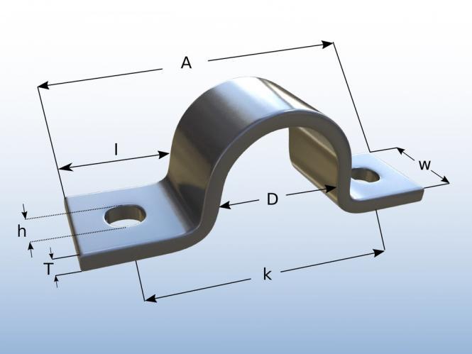 Hervorragend Rohrschelle Edelstahl Bügelschelle für Rohr Ø 10 mm U-Schelle KR57
