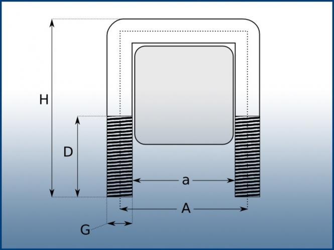 rohrschelle vierkant edelstahl u schelle b gelschelle 20. Black Bedroom Furniture Sets. Home Design Ideas