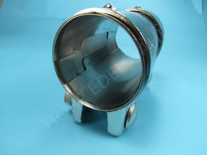 auspuff edelstahl v2a verbinder reparatur schelle f r rohr. Black Bedroom Furniture Sets. Home Design Ideas