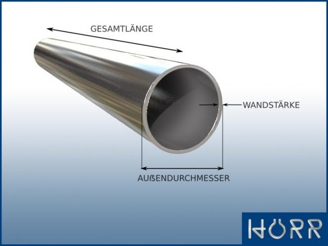 Sehr Rohr - ALUMINIUM Länge NEU ALLES bis 600 cm HI13