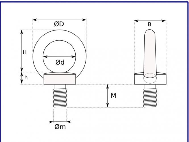 ringschraube ring se mit m6 au engewinde schraube v2a din 580 m6 1 st ck. Black Bedroom Furniture Sets. Home Design Ideas