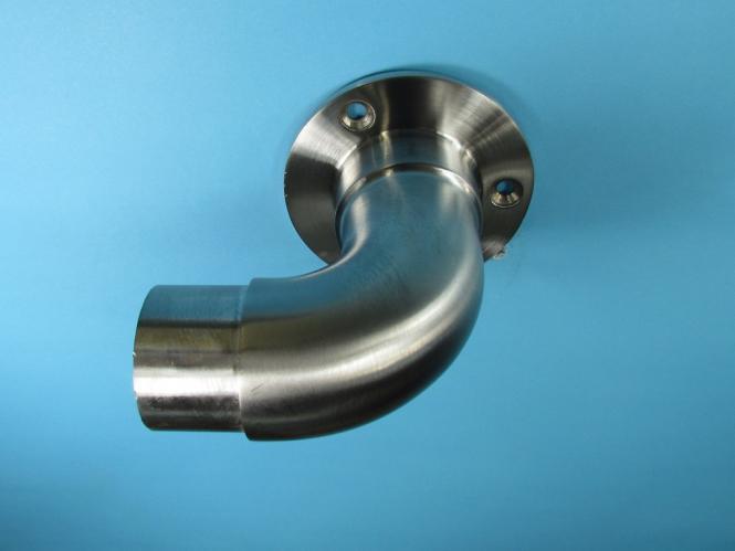 6m aus einem St/ück /& unterschiedlichen Endst/ücken zum Ausw/ählen /Ø 33,7 mm mit gewinkelte Halter Edelstahlhandlauf L/änge 0,3m Enden mit Ecke zur Wand Beispiel:L/änge 30 cm mit 2 Halter
