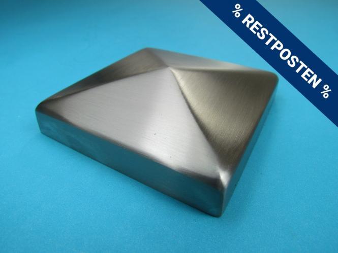 5 St/ück Zaun Pfostenstopfen 80x80mm Gr/ün Pyramidenf/örmig