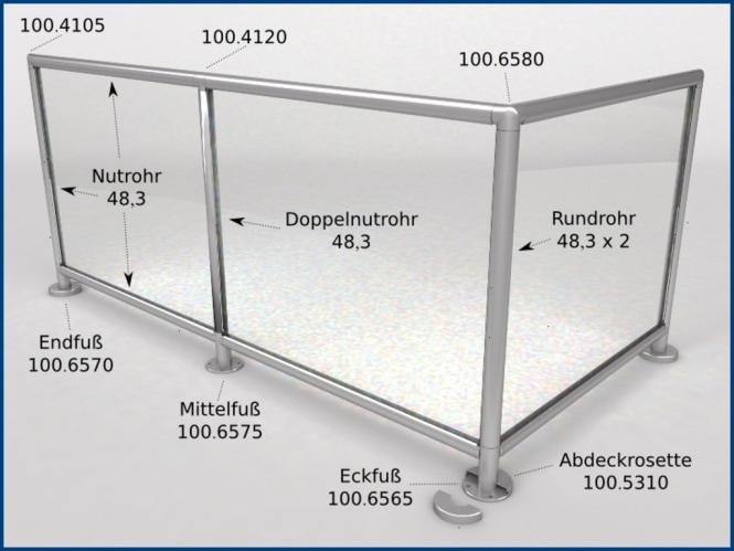 glasleistenrohr stopfen endkappe f r rohr 48 3 edelstahl glaseinfassung f r rohr 48 3 mm. Black Bedroom Furniture Sets. Home Design Ideas