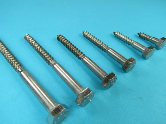Holzschrauben Schlüsselschrauben DIN571 Edelstahl VA 8mm Holzschraube Sechskant