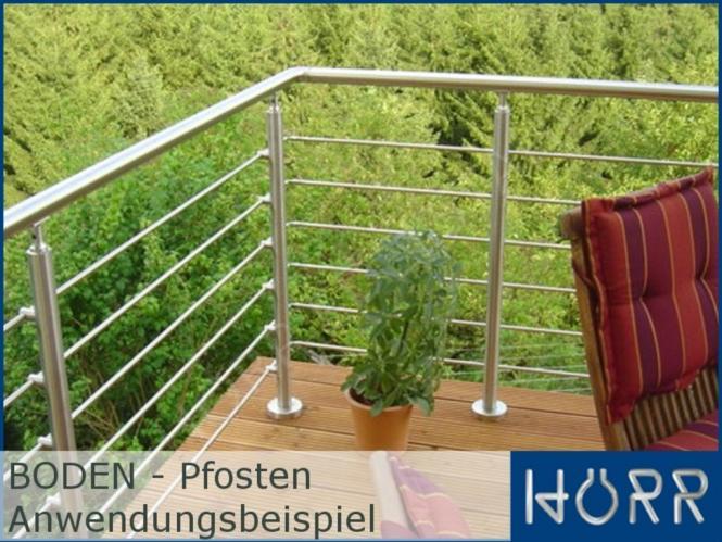 Gelander Bodenmontage 5 Meter 500 Cm 4 Pfosten Edelstahl Mit 2 X