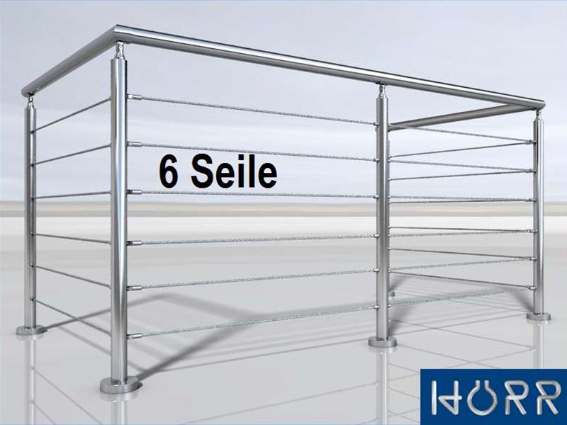 gel nder u form mit edelstahl handlauf f llung seil 6. Black Bedroom Furniture Sets. Home Design Ideas