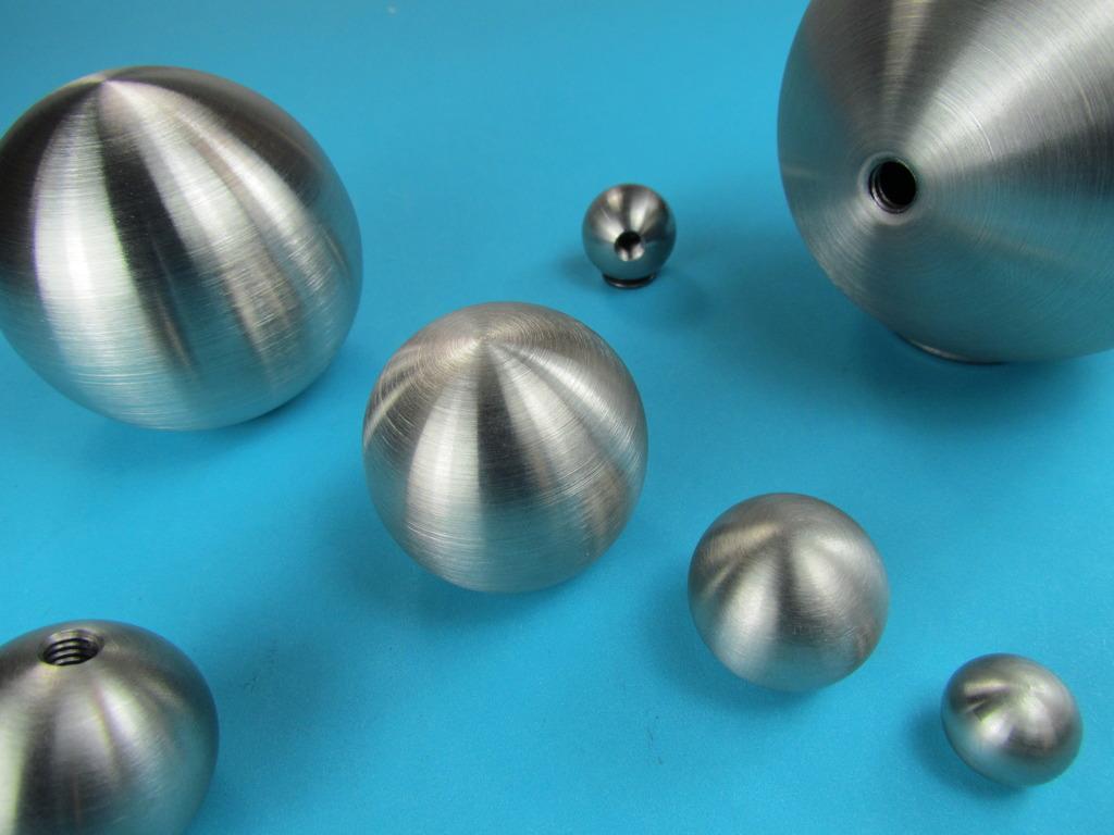 kugel 15 bis 200 mm edelstahl geschliffen zierkugel mit gewinde. Black Bedroom Furniture Sets. Home Design Ideas