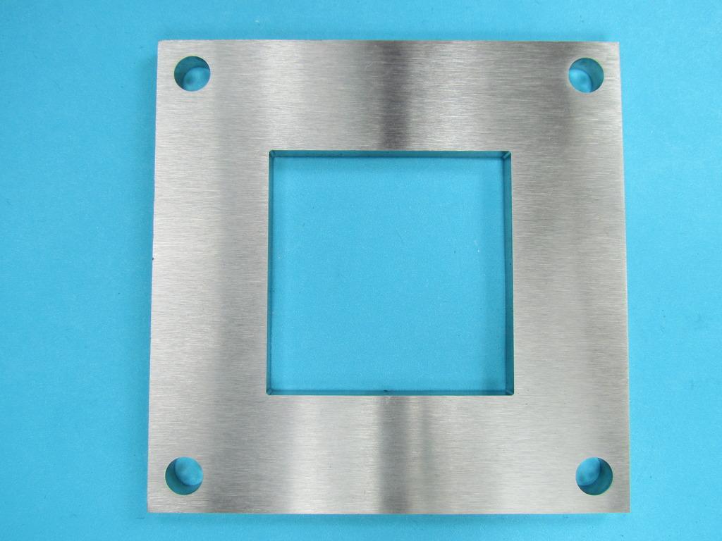 edelstahl platte 68x68 f r quadratrohr als fu anker 30 x 30 vierkant rohr f r rohr 30x30 a. Black Bedroom Furniture Sets. Home Design Ideas