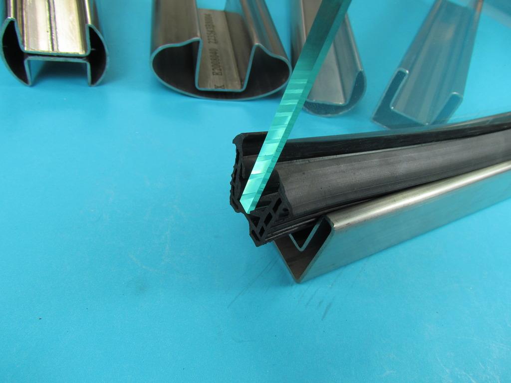 h rr edelstahl glasleistenrohr dichtung f r nutrohr doppelnut nut rohr f r glas. Black Bedroom Furniture Sets. Home Design Ideas