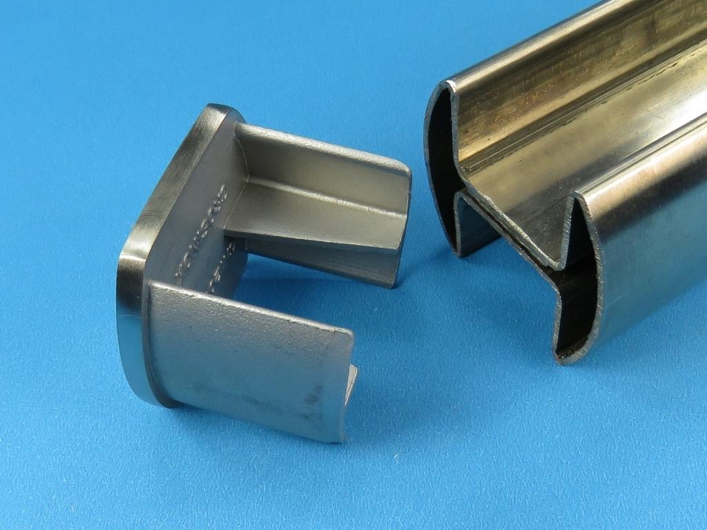 glasleistenrohr stopfen endkappe f r doppel nut rohr 48 3 edelstahl. Black Bedroom Furniture Sets. Home Design Ideas