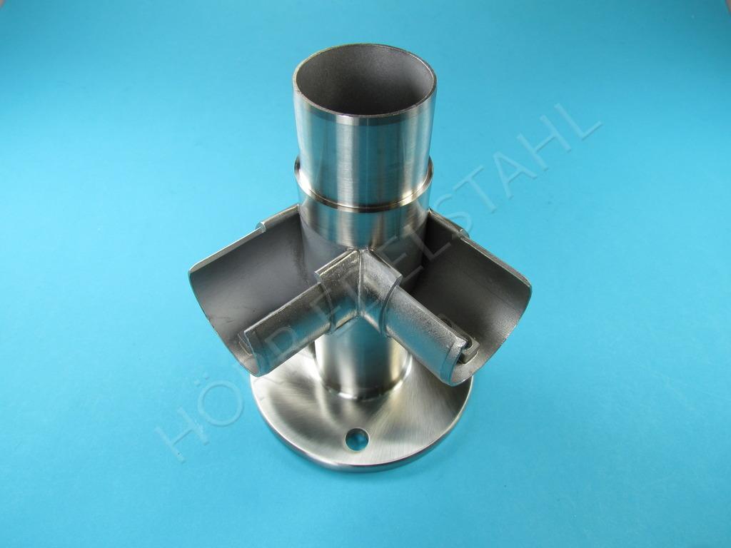 glasleistenrohr bodenhalterung eckst ck adapter 48 3. Black Bedroom Furniture Sets. Home Design Ideas