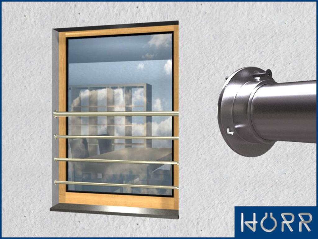 franz sicher balkon waagerecht mit 4 streben bis 100. Black Bedroom Furniture Sets. Home Design Ideas