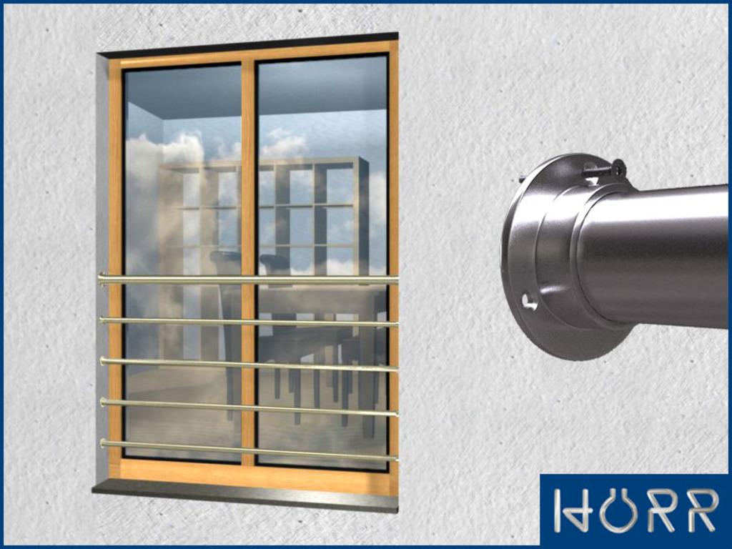 franz sicher balkon waagerecht mit 5 streben bis 200. Black Bedroom Furniture Sets. Home Design Ideas