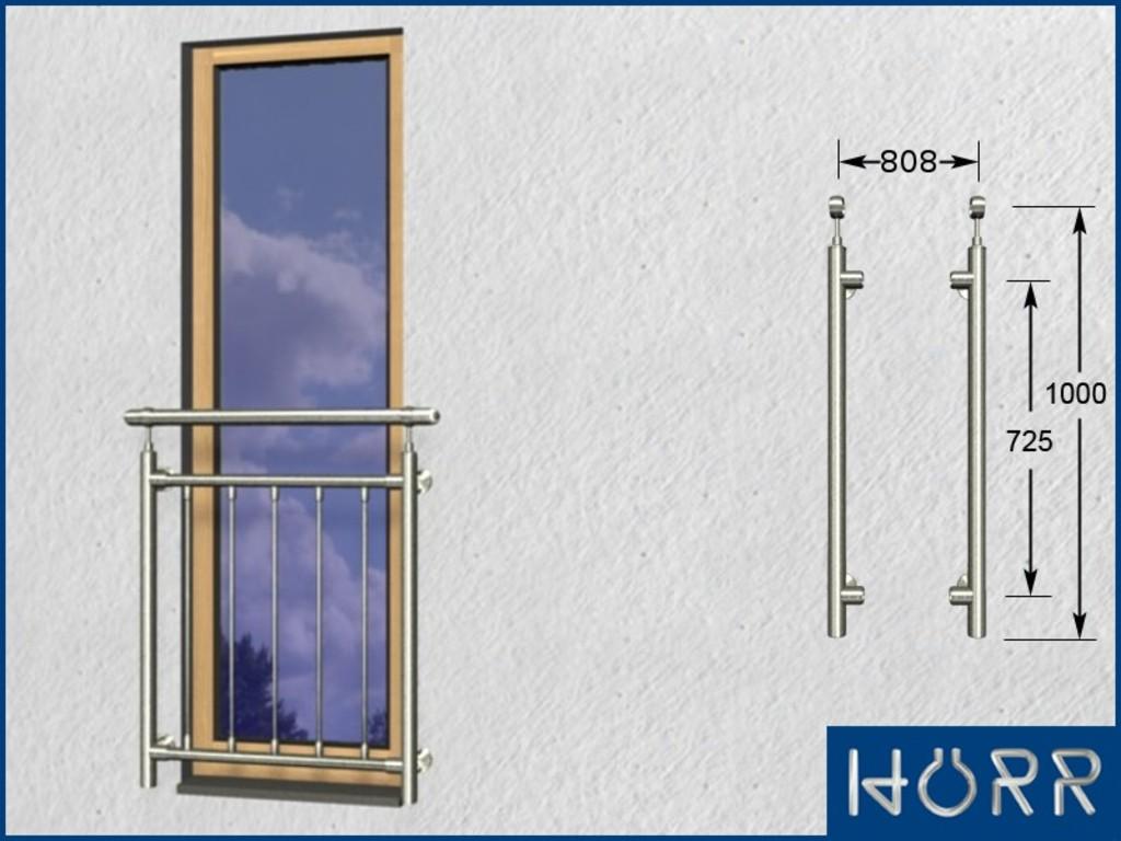 franz sicher balkon senkrecht 5 streben pa 808 mm 5. Black Bedroom Furniture Sets. Home Design Ideas
