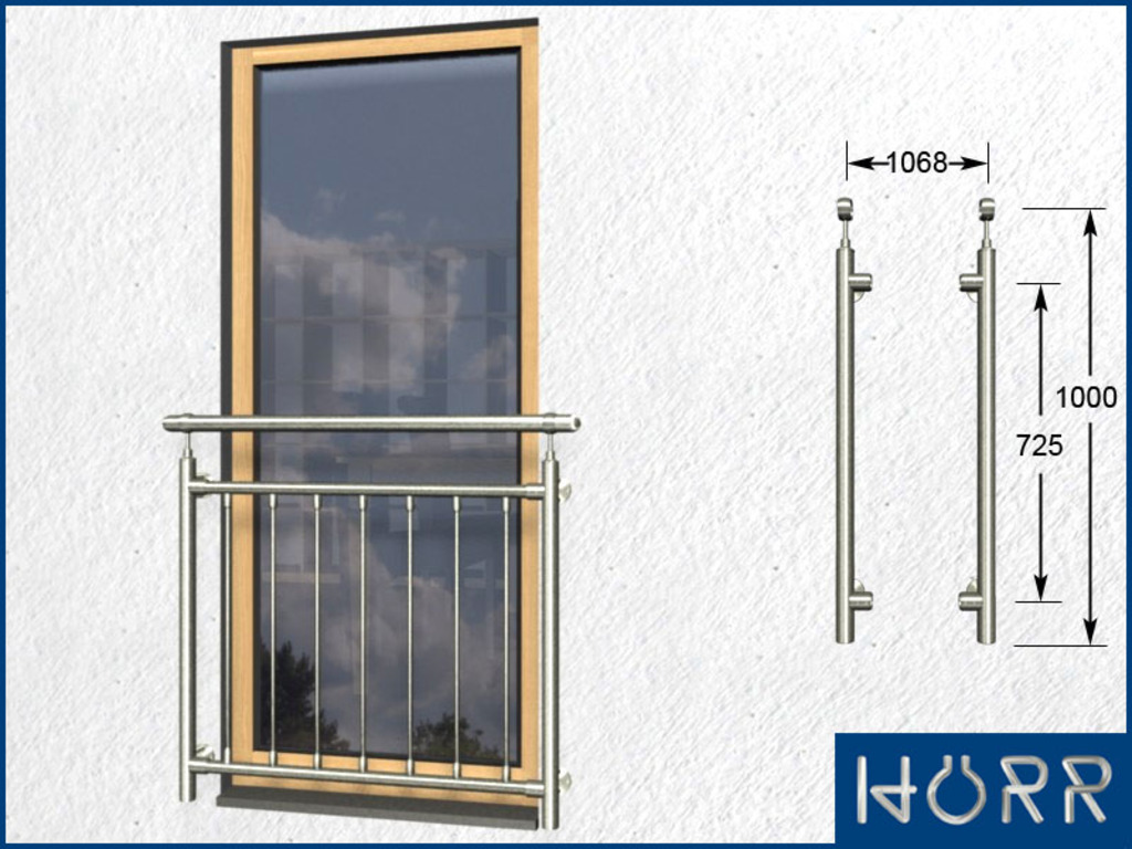 franz sicher balkon senkrecht 7 streben pa 1068 mm 7. Black Bedroom Furniture Sets. Home Design Ideas