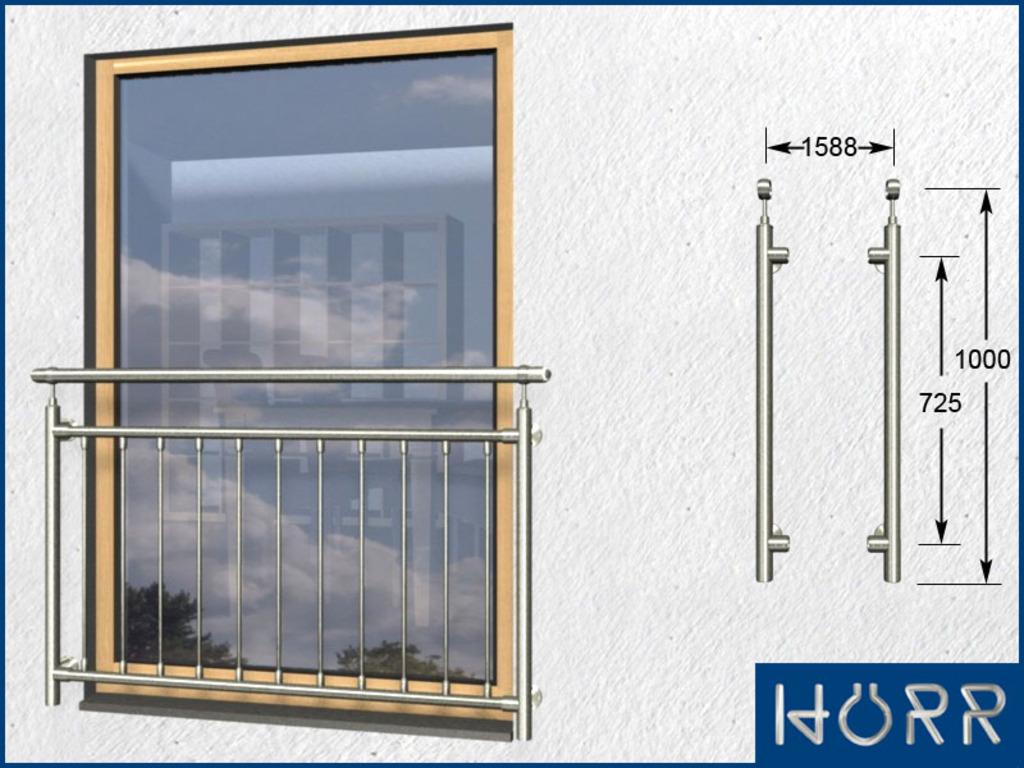 franz sicher balkon senkrecht 11 streben pa 1588 mm. Black Bedroom Furniture Sets. Home Design Ideas