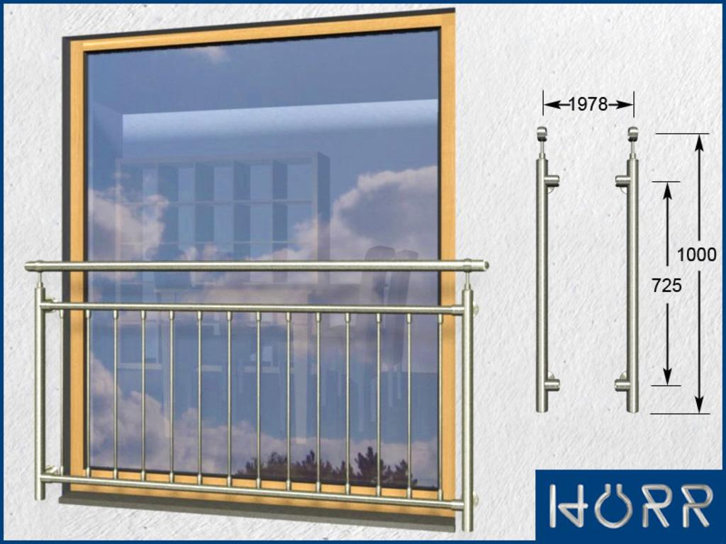 franz sicher balkon senkrecht 14 streben pa 1978 mm. Black Bedroom Furniture Sets. Home Design Ideas