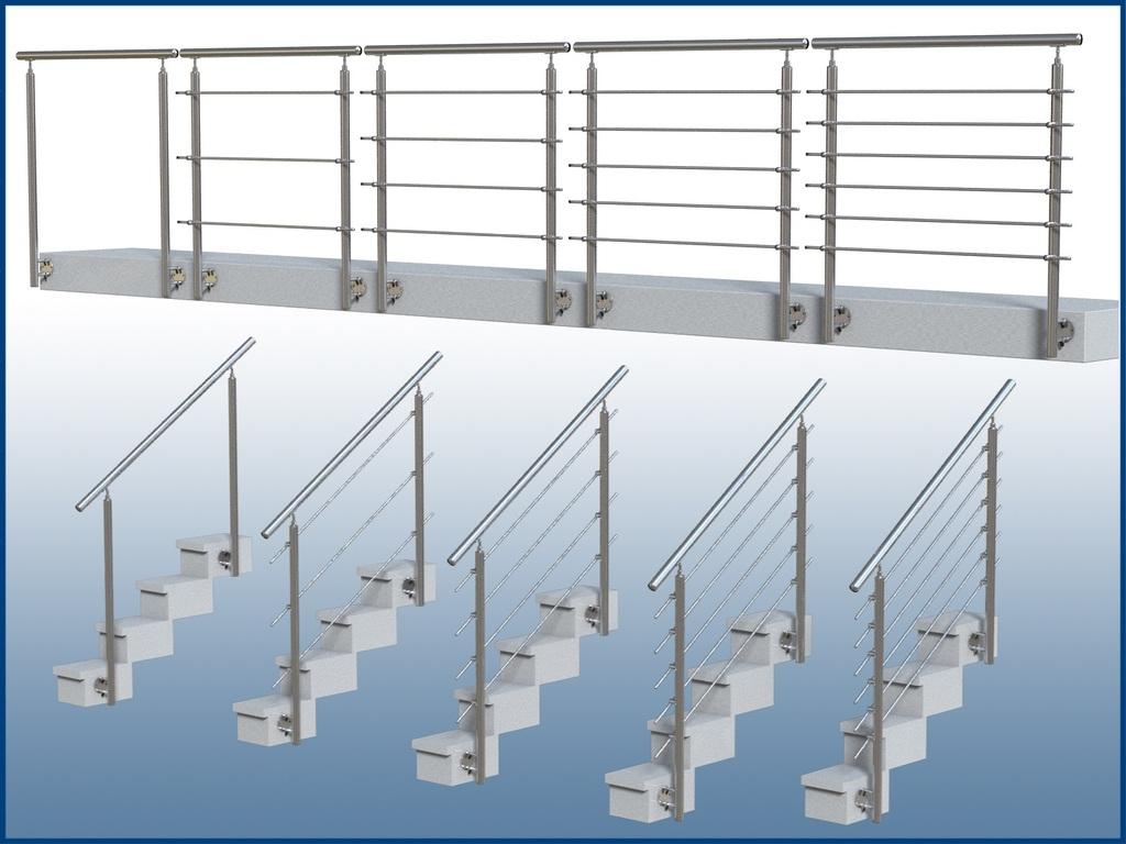 h rr edelstahl gel nder wange gp06 i form edelstahl balkon und treppe. Black Bedroom Furniture Sets. Home Design Ideas