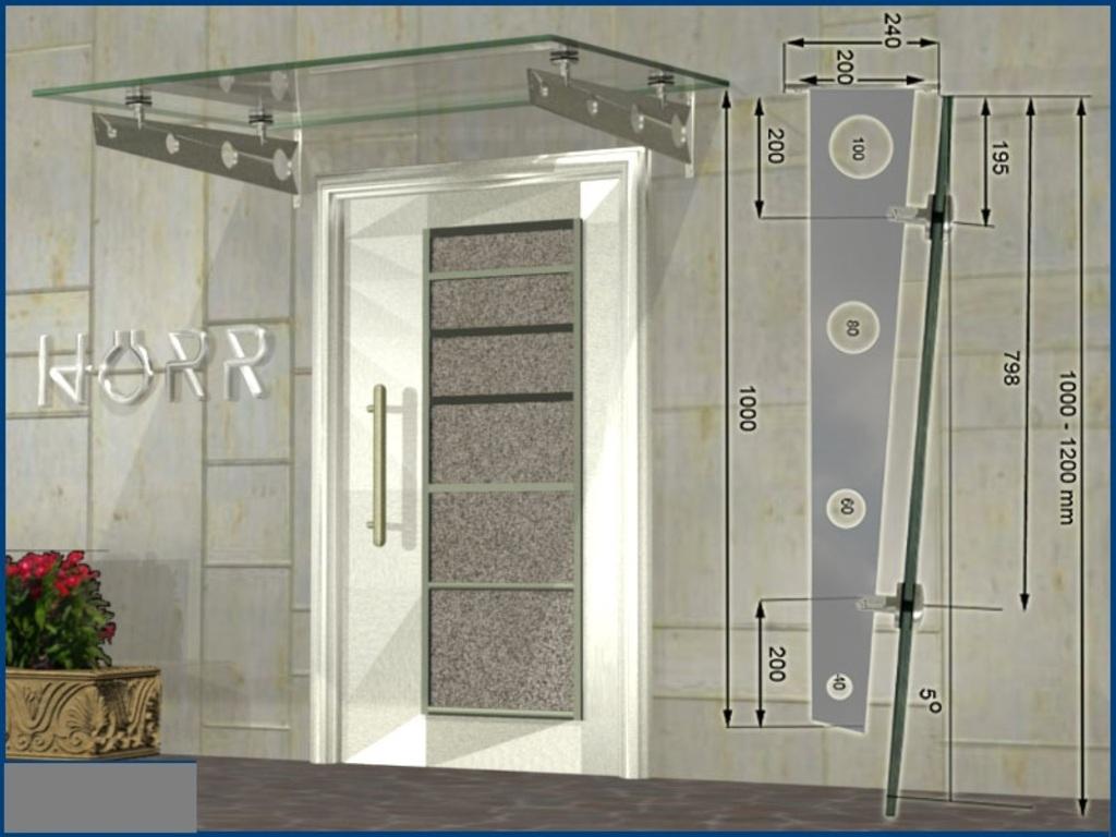 vordach schwert edelstahl 1000 mm pultvordach haust r eingang dach. Black Bedroom Furniture Sets. Home Design Ideas