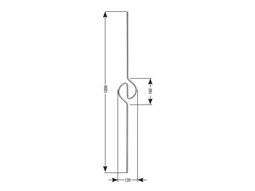 zierstab rundstab f r gel nder 12 mm edelstahl h rr edelstahl. Black Bedroom Furniture Sets. Home Design Ideas