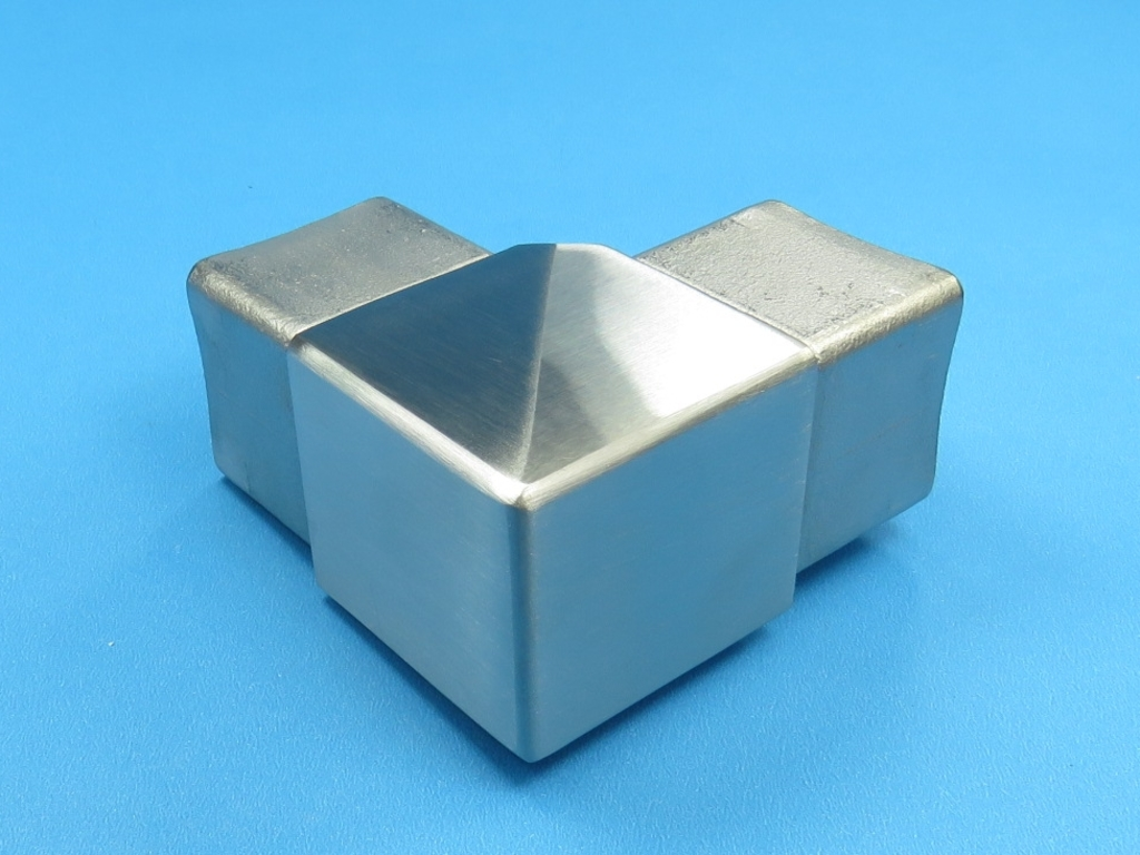 Edelstahl Material - V2A Vierkantrohre Quadrat geschliffen - V2A